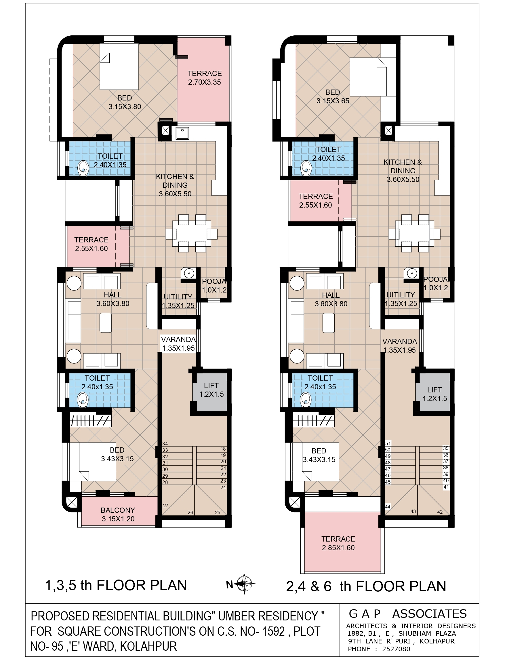1st to 6th Floor Plan